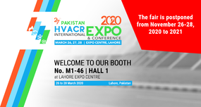PAKISTAN HVACR INTERNATIONAL EXPO & CONFERENCE 2020 is postponed to 2021