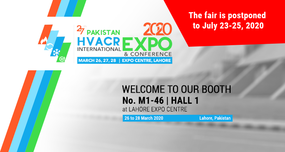 PAKISTAN HVACR INTERNATIONAL EXPO & CONFERENCE 2020 is postponed to July 23-25, 2020