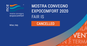 MOSTRA CONVEGNO EXPOCOMFORT 2020 FAIR IS CANCELLED