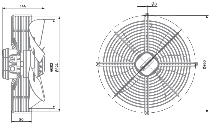 Stamped 300 Mm Ac Axial Fans Manufacturer And Factory