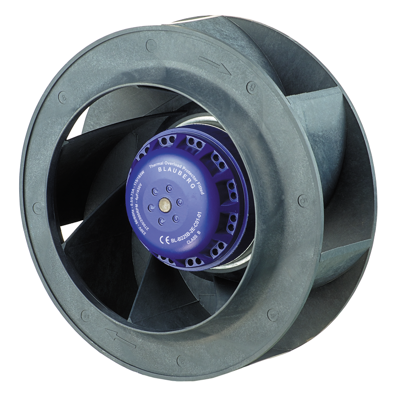 Centrifugal Fan Curve : Backward curved Ø mm ac centrifugal fans supplier and